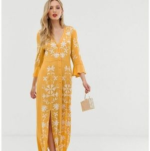 Asos Embroidered Maxi Dress size 0